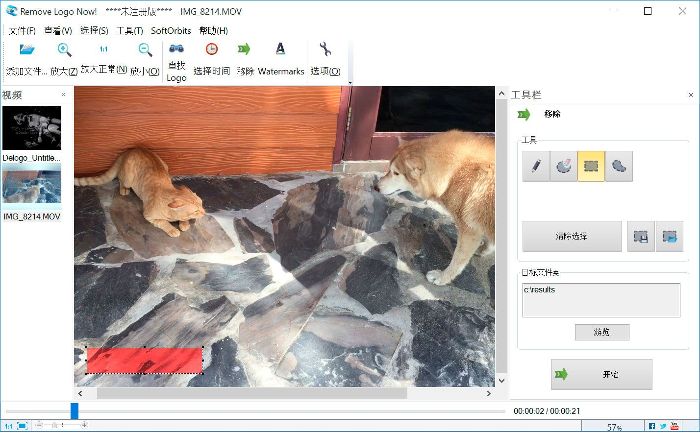 SoftOrbits Video Watermark Remover.